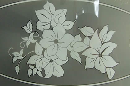 Sandblasted glass finish